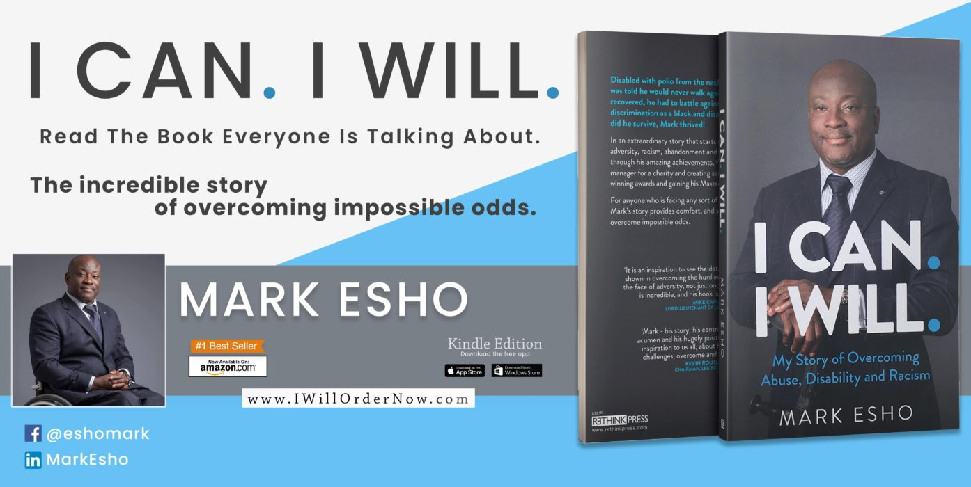 the banner of mark esho's book, I can I will