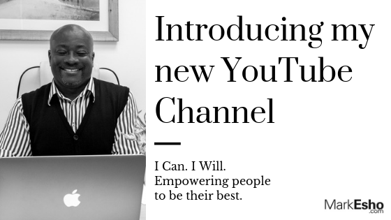 I can. I will. Mark Esho's new youtube channel.